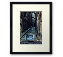 Police road closed Framed Print