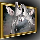 Flying Pegasus Horses Out Of Bounds by SmilinEyes
