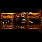 Ponte Vecchio at Night by Micha Dijkhuizen