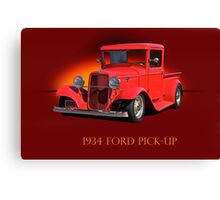 1934 Ford Pick-Up w/ID Canvas Print