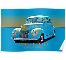 1940 Ford Deluxe Coupe w/ID Poster