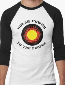 "Earth Day ""Solar Power To The People"" Men's Baseball ¾ T-Shirt"