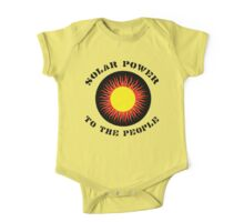 "Earth Day ""Solar Power To The People"" One Piece - Short Sleeve"