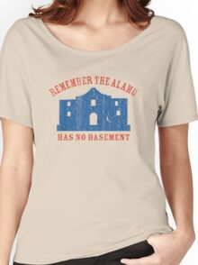 Vintage Alamo Has No Basement Women's Relaxed Fit T-Shirt