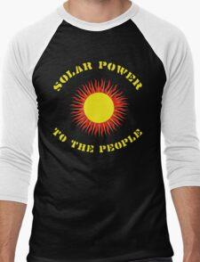 "Earth Day ""Solar Power - To The People"" Dark Men's Baseball ¾ T-Shirt"