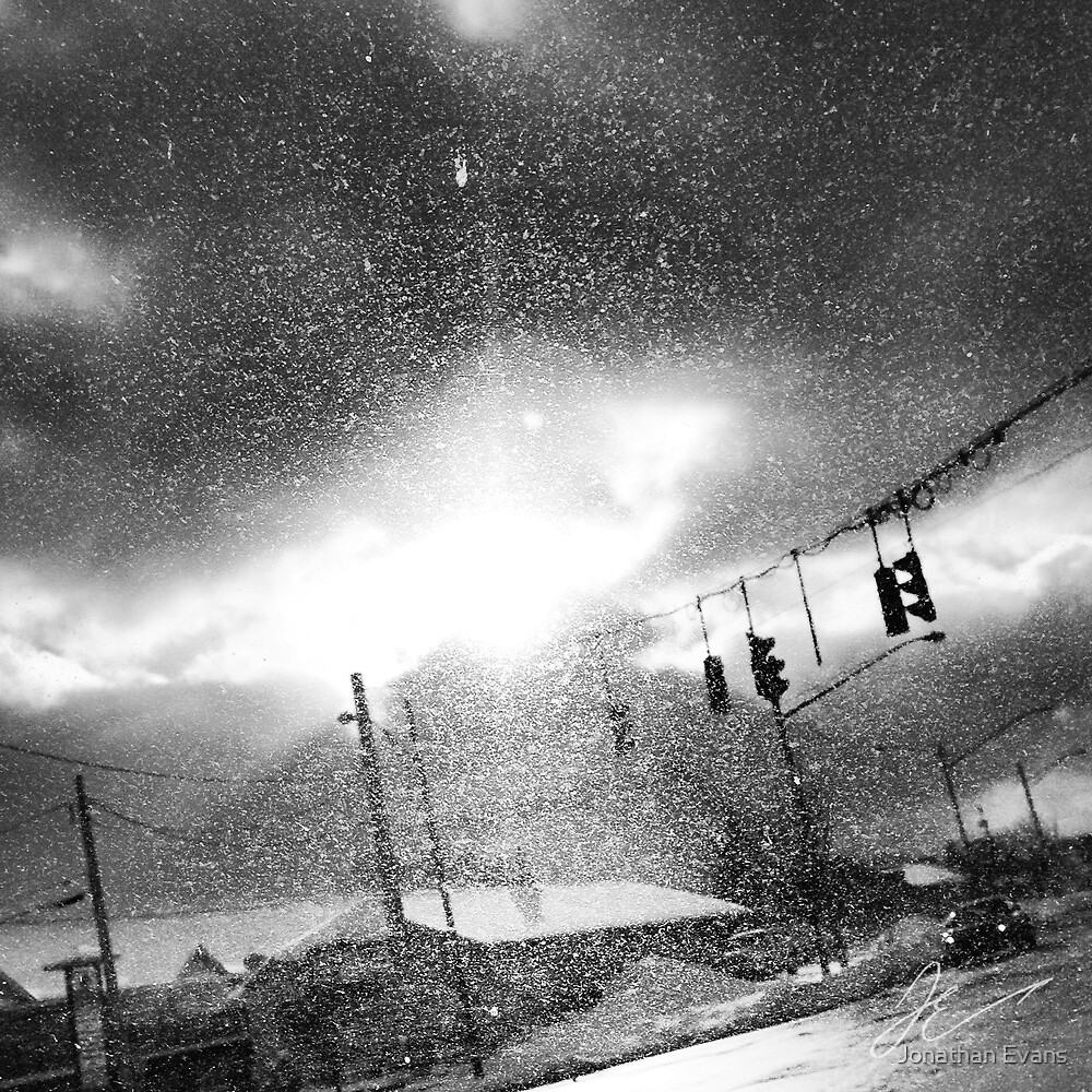 Dirty windshield by Jonathan Evans