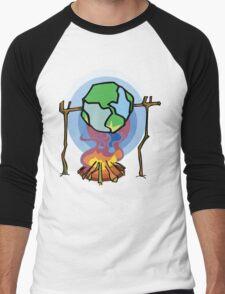 Global Warming Earth Day Men's Baseball ¾ T-Shirt