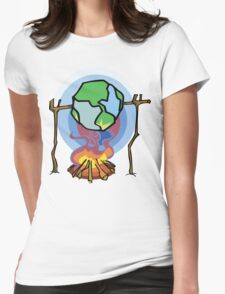 Global Warming Earth Day Womens Fitted T-Shirt