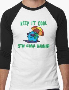 "Earth Day ""Keep It Cool - Stop Global Warming"" Men's Baseball ¾ T-Shirt"