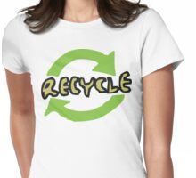 "Earth Day ""RECYCLE"" Womens Fitted T-Shirt"