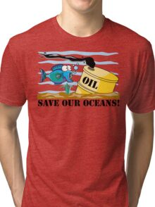 """Earth Day """"Save Our Oceans"""" Tri-blend T-Shirt"""