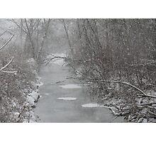 Snowy Winter Stream II Photographic Print