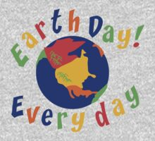Earth Day Everyday One Piece - Long Sleeve