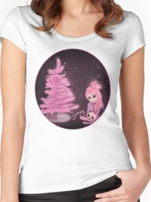Intercosmic Christmas in Pink Women's Fitted Scoop T-Shirt