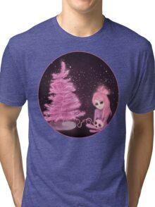 Intercosmic Christmas in Pink Tri-blend T-Shirt