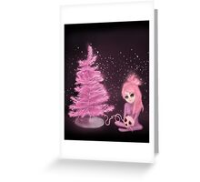 Intercosmic Christmas in Pink Greeting Card