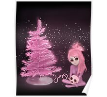 Intercosmic Christmas in Pink Poster