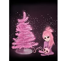 Intercosmic Christmas in Pink Photographic Print