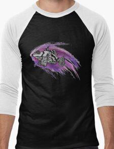 Fish & Watercolor Splash Men's Baseball ¾ T-Shirt