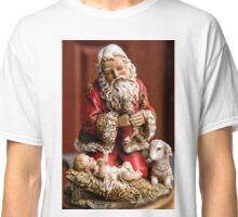 Santa Adoring the Christ Child Classic T-Shirt