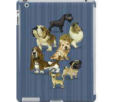7 dogs / dark BG iPad Case/Skin