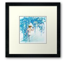 """FEBRUARY"" from ""Calender Sheets"" Framed Print"