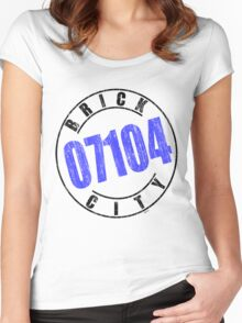 'Brick City 07104' Women's Fitted Scoop T-Shirt