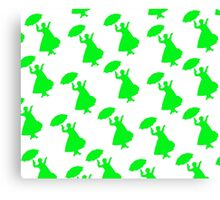 Mary Poppins Pretty in Green Pattern Canvas Print