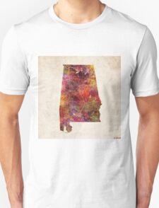 Alabama map painting T-Shirt