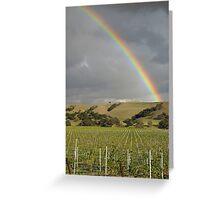 Vineyard Rainbow Greeting Card