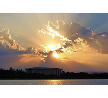 Summer Sunset 1 Canberra Australia  Photographic Print