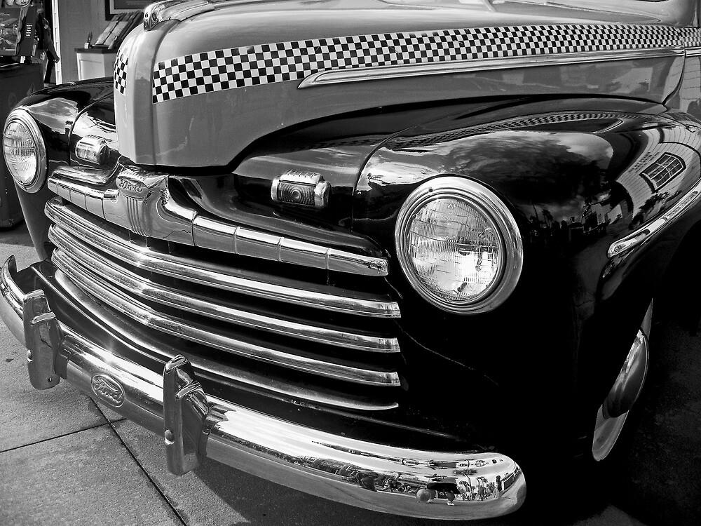 Black and White Checkered Cab by John  Kapusta