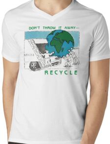 Earth Day Recycle Mens V-Neck T-Shirt