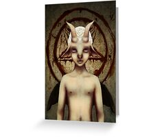 PETIT BAPHOMET Greeting Card