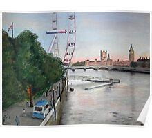London-Eye at Dusk Poster
