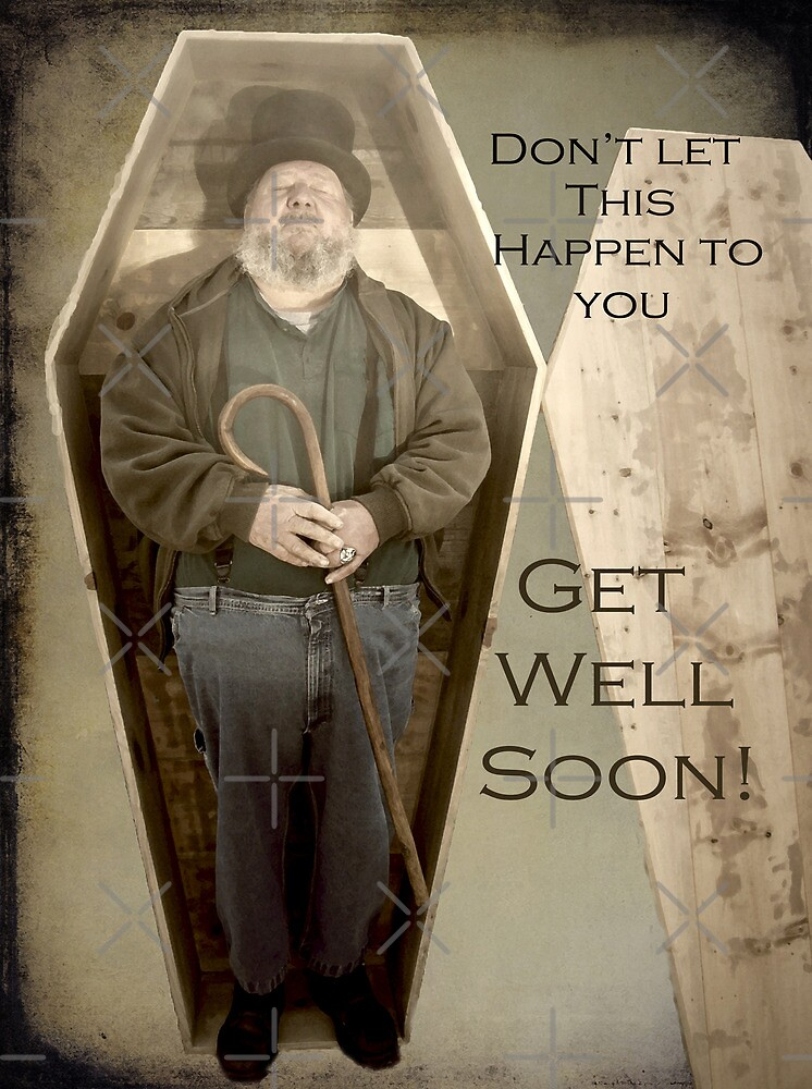 Get Well Soon Greeting Card by Susan S. Kline