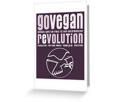 GO VEGAN REVOLUTION Greeting Card