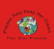 Earth Day Please Keep Her Clean One Piece - Long Sleeve