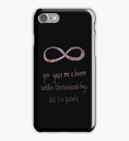 You gave me forever iPhone Case/Skin