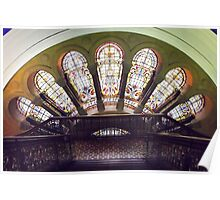 Stained Glass Windows.  Poster