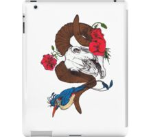 The Ram skull and bird in colour iPad Case/Skin