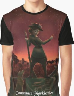 Constance Markievicz - Rejected Princesses Graphic T-Shirt