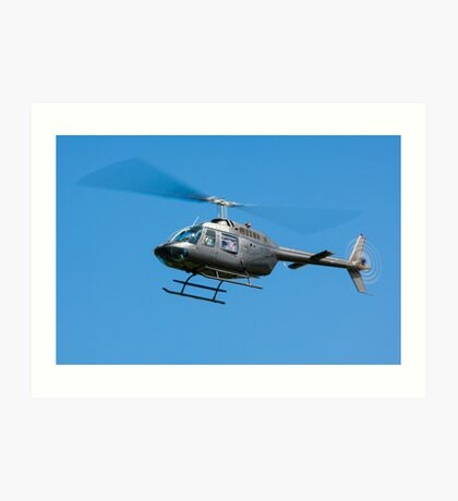 Bell Jet Ranger helicopter Art Print