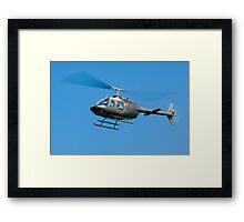 Bell Jet Ranger helicopter Framed Print