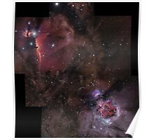Orion's Nebulas Incomplete Mosaic Poster