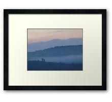 Mist in the Early Morning Valley  VRS2 Framed Print