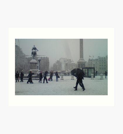 Travalgar in the Snow. Art Print