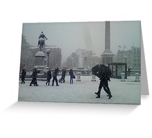 Travalgar in the Snow. Greeting Card