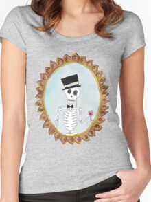 The Gentleman Skeleton Women's Fitted Scoop T-Shirt
