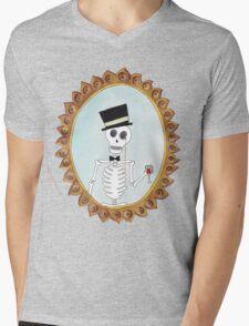 The Gentleman Skeleton Mens V-Neck T-Shirt